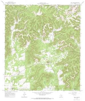 Seco Pass topo map