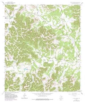 A Bar A Ranch topo map