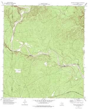 Mustang Waterhole topo map