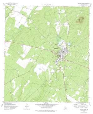 Brackettville topo map