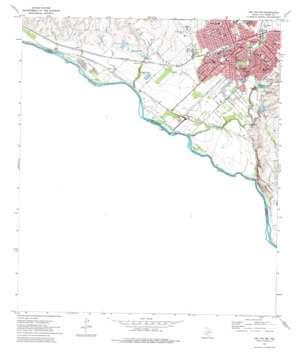Del Rio Sw topo map