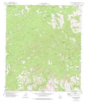 Bull Waterhole topo map