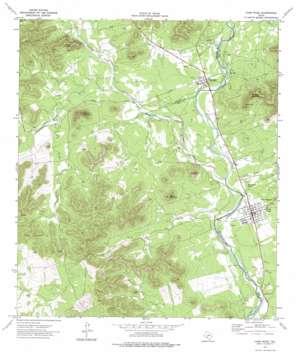 Camp Wood topo map
