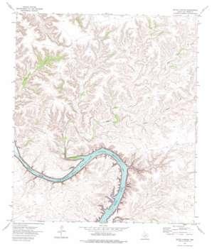 Satan Canyon topo map