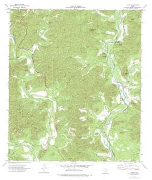 Vance topo map