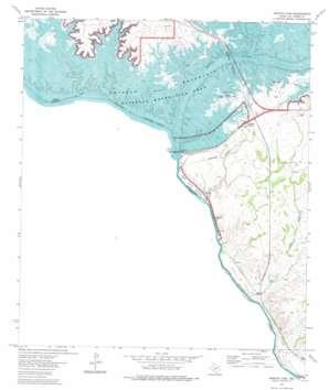 Amistad Dam topo map