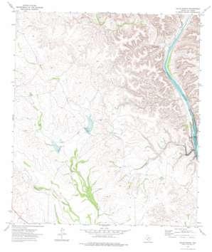 Gillis Ranch topo map