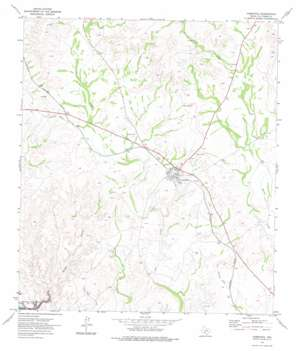 Comstock topo map