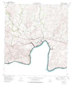 Langtry topo map