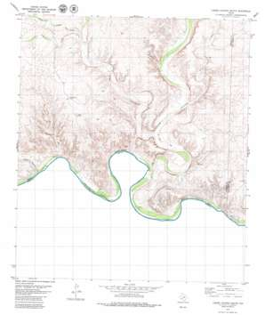 Lozier Canyon South topo map
