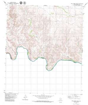 Cook Creek South topo map