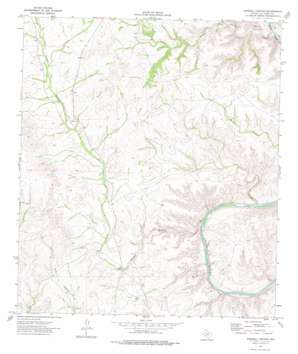 Harkell Canyon topo map