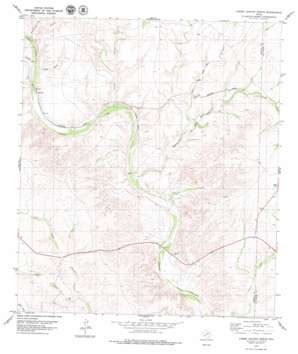Lozier Canyon North topo map