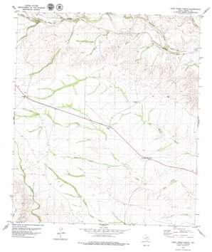 Cook Creek North topo map