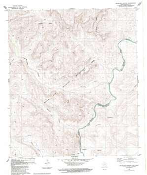 Bourland Canyon topo map