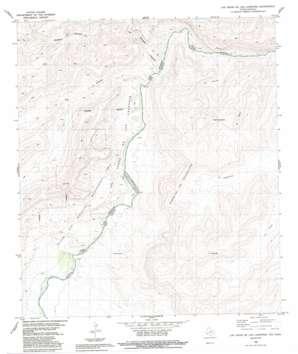Las Vegas De Los Ladrones topo map