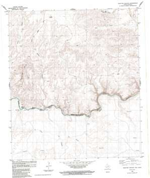 Shafter Canyon topo map
