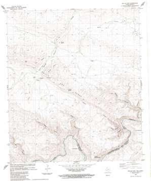 Bullis Gap topo map
