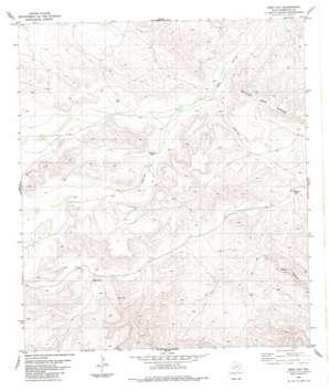 Beef Gap topo map