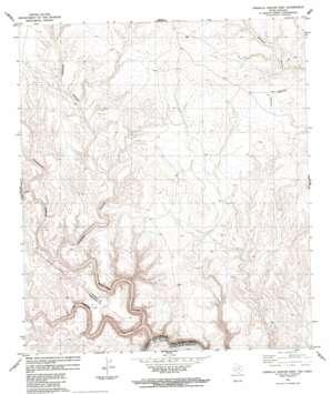 Candilla Canyon East topo map