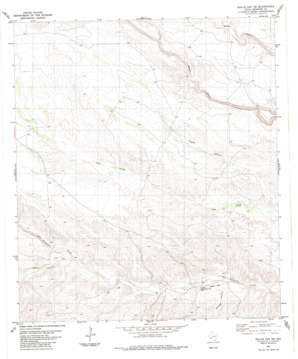 Bullis Gap Ne topo map