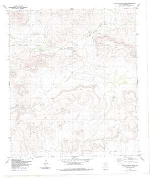 Pine Mountain West topo map