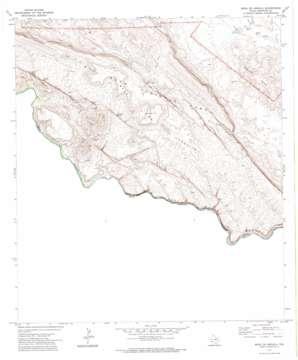 Mesa De Anguila topo map