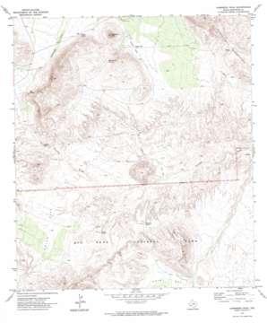 Sombero Peak topo map