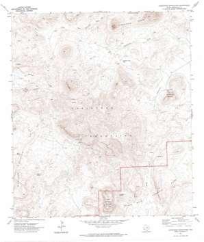 Christmas Mountains topo map
