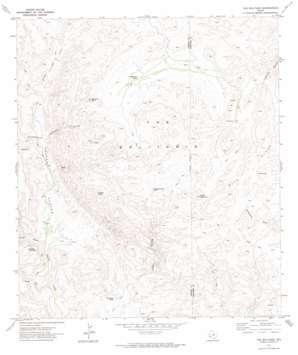 The Solitario topo map