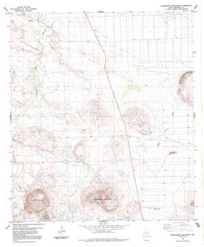Packsaddle Mountain topo map
