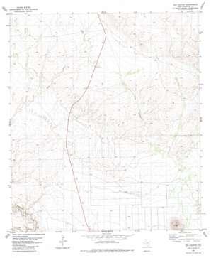 Dog Canyon topo map