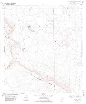Bandera Mesa North topo map