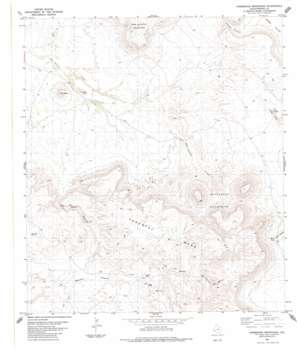 Horseshoe Mountain topo map