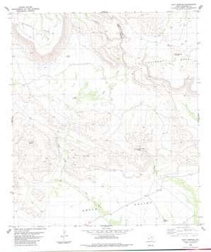Duff Springs topo map