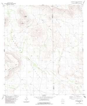 Paradise Draw topo map