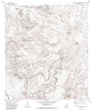 Agua Adentro Mountain topo map
