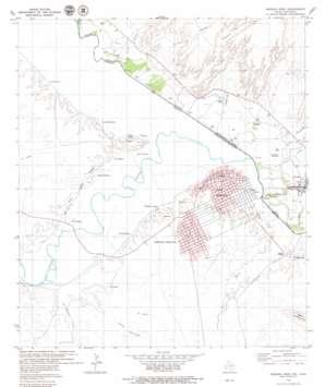 Presidio West topo map