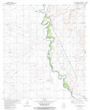 Las Conchas topo map