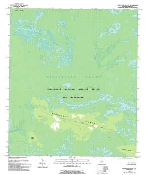 Blackjack Island topo map