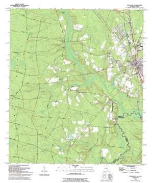 Folkston topo map