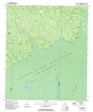 Cravens Island topo map