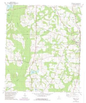 Pebble Hill topo map