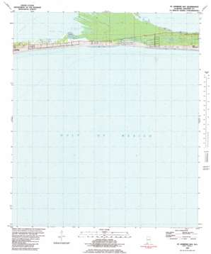 Saint Andrews Bay topo map