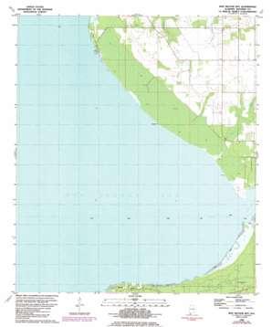 Bon Secour Bay topo map