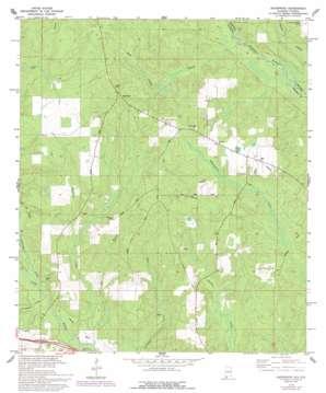 Gateswood topo map