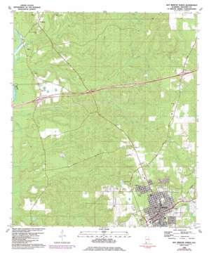 Bay Minette North topo map