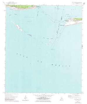 Fort Morgan topo map