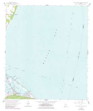 Little Dauphin Island topo map