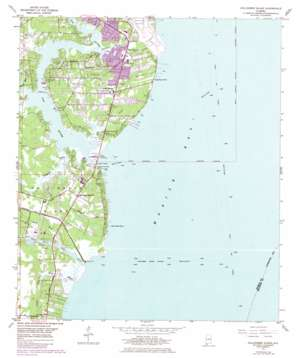 Hollingers Island topo map